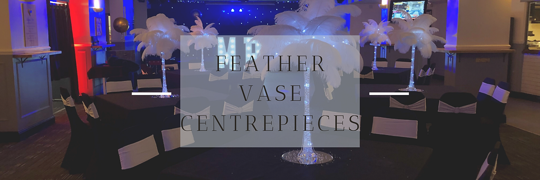 Feather Vase Centrepieces in Hertfordshire, Bedfordshire, Buckinghamshire, Essex & London