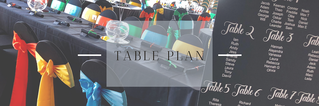 Table Plan Hire in Hertfordshire, Bedfordshire, Buckinghamshire, Essex & London