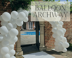 Balloon archway available in Hertfordshire, Bedfordshire, Buckinghamshire, Essex and London