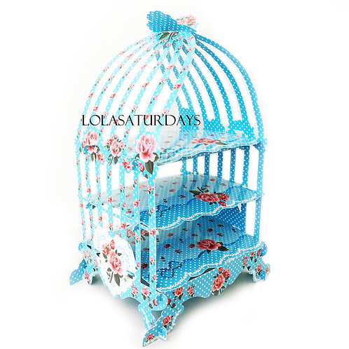Bird cage cupcake stand