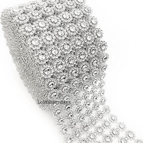 Diamond Rhinestone Mesh- Flower shape
