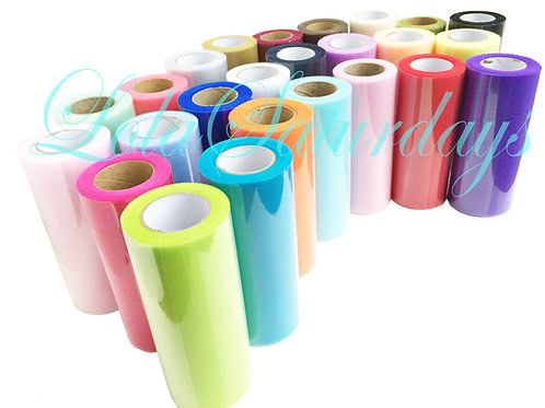 """Tulle 6""""x 25 yards (75 ft) (Pack of 6, 10, 25)"""