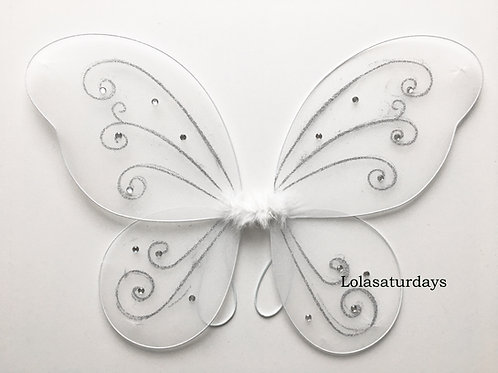 "22"" x 15"" fairy wings - winter colors"