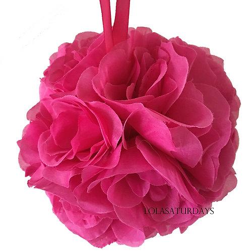 Rose flower kissing ball