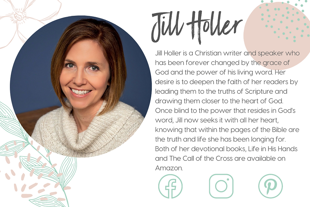 Jill Holler is the inspiring Author at changedbyhisgrace.com. She writes from a passion to give God Glory for who He is. You can find Jill on Facebook and her books on Amazon