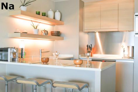 Project creatie van een gezellige keuken.