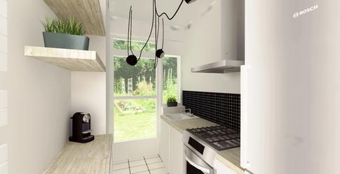 Project 3D visualisatie van een nieuwe keuken.