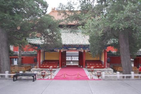 De temple of Confucius in Beijing, China.