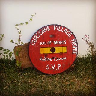 récolte des déchets au village