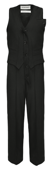 BLACK WOOL JUMPSUIT