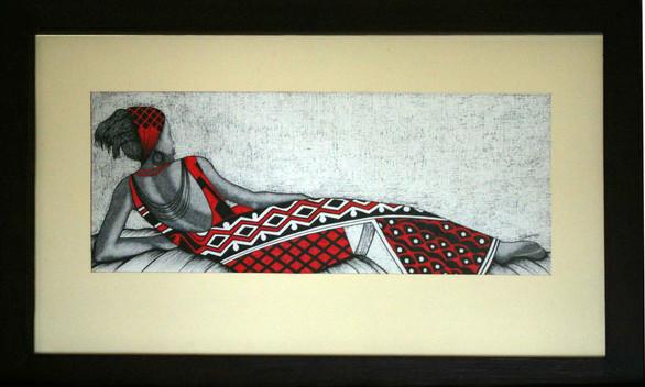 """Shimaa: """"Nubian Woman Reclining"""""""
