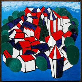 """Frank Emmert: """"Le village 'Fernand Léger' en plein décoration pour le 14 juillet"""""""