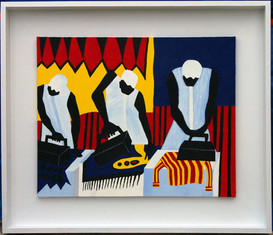 """Frank Emmert: """"The Ironers"""" (Hommage to Jacob Lawrence"""""""