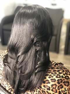 Natural Hair Silk Press