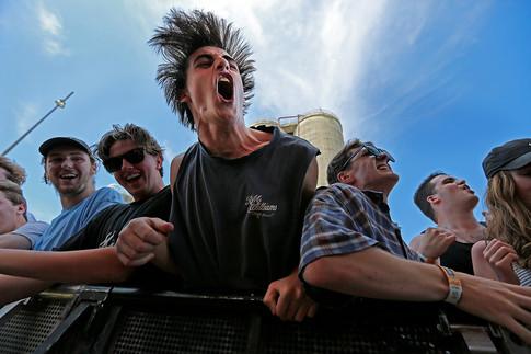 Fans at Laneway music festival