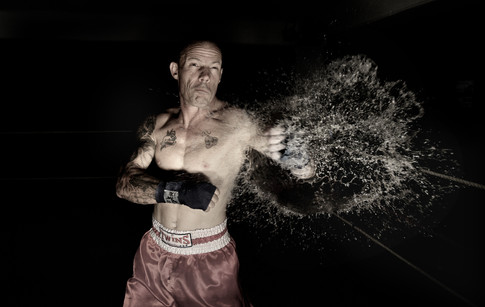 Portrait of boxer Robbie Martin