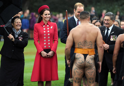 Kate Middleton Maori Welcome to NZ