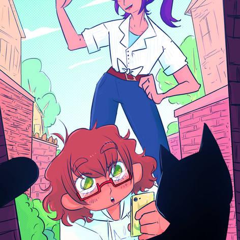 Kaoru Seta and Maya Yamato from Bang! Dream