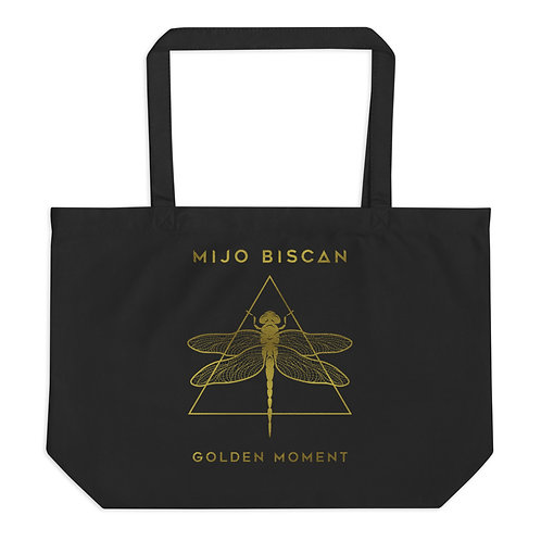 Dragonfly Gold - Large organic tote bag