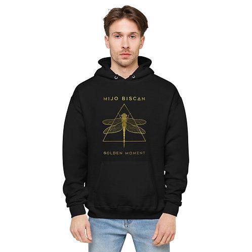 Dragonfly Gold - Black Ecosmart Unisex Hoodie