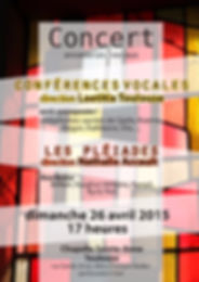 "Ensemble vocal ""les Conférences"" Laetitia TOULOUSE programme 2016 Sacrés contemporains !"