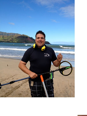 Derrick Watts metal detecting on the Big Island of Hawaii