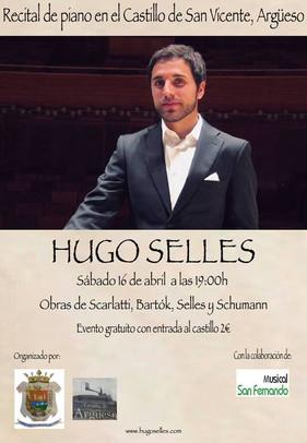RECITAL DE PIANO, HUGO SELLES (16/04/2016)