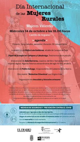 """14-10-2020. """"Mujeres Valientes"""". Día Internacional de las Mujeres Rurales"""