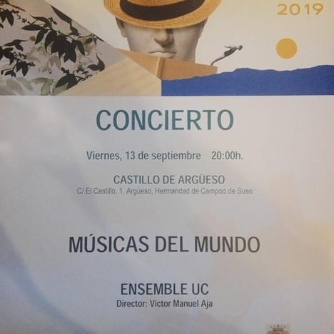 """Concierto """"Músicas del Mundo"""" UC. Viernes 13 de septiembre 2019"""