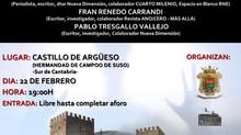 Charla sobre misterios y enigmas. 22 de febrero 2020. Fran Renedo Carrandi, Juan Gómez y Pablo Tresg