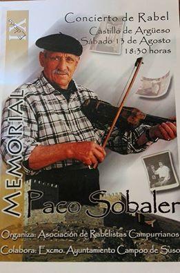 CONCIERTO DE RABEL (13 de agosto):                        IX Homenaje a Paco Sobaler
