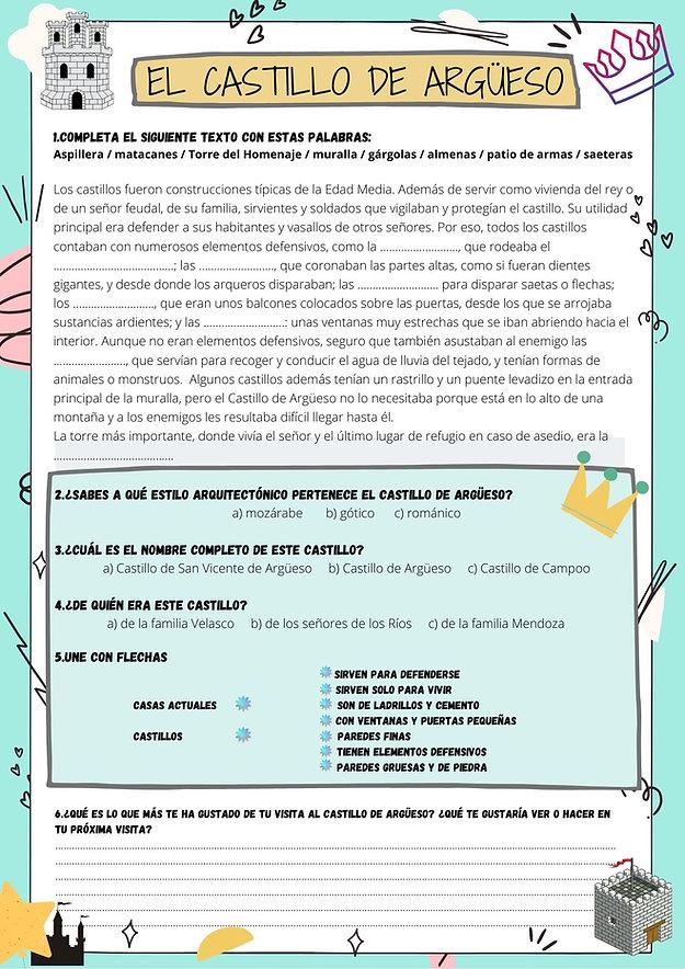 FICHA DEL CASTILLO PARA PEQUES 1