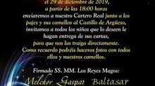 ¡El Cartero Real en el Castillo de Argüeso! 29 de diciembre 2019