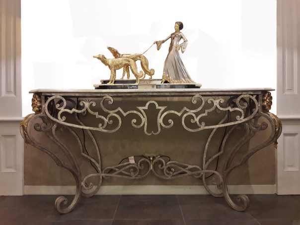 FOUR LEGS LARGE CONSOLE TABLE