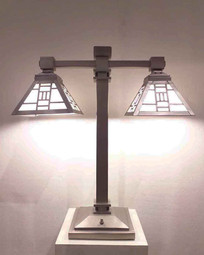 SILVER TABLE LAMP