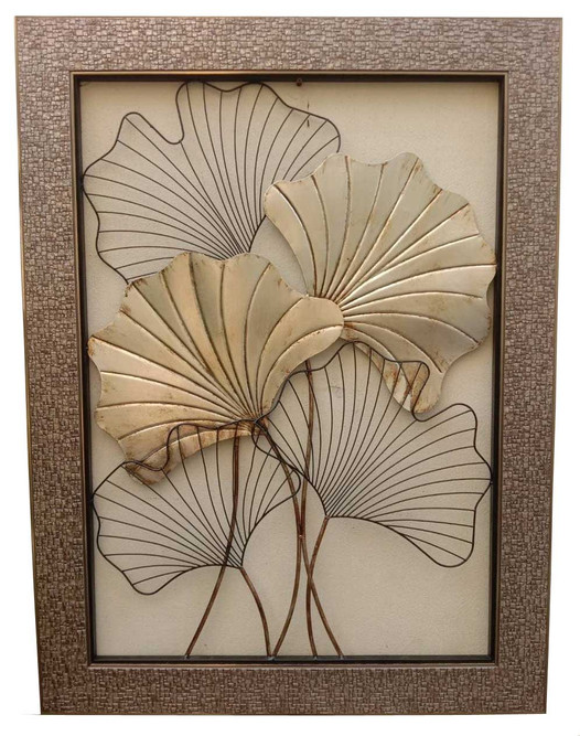 FRAMED GINGKO LEAVES