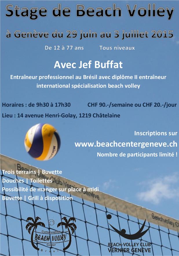 Stage de beach-volley - venez profiter des conseils de Jef