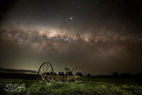 Hay Rake under the stars