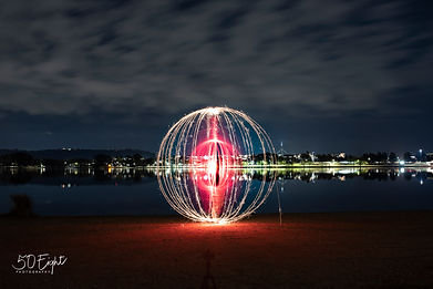 Red tube with sparkler