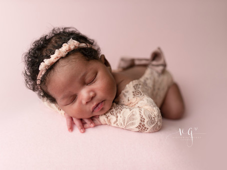 Folding Table - Newborn Photography Posing | Victoria Griest Photography