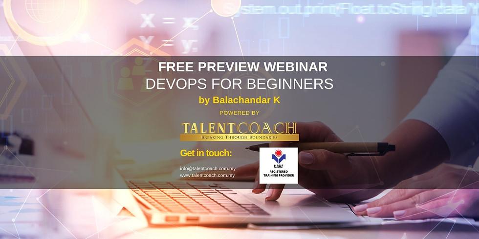 Free Webinar: DevOps for Beginners (Preview)