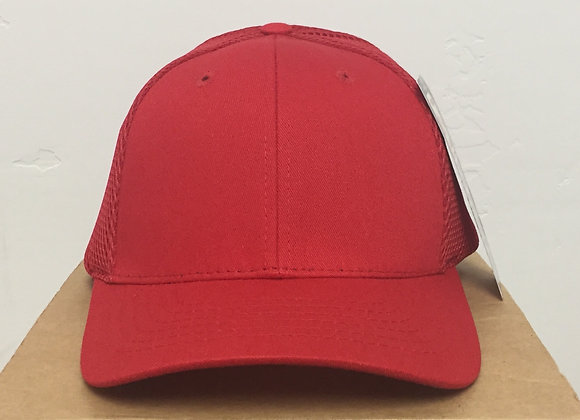 12 Red Breathable Baseball Hats