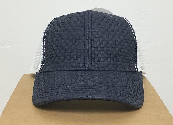 12 Navy Blue Wicker Vented Snapback Hats