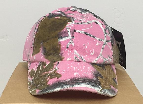 12 Pink Woodland Camo Baseball Hats