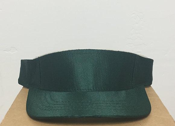 12 Shiny Forest Green Velcro Visors