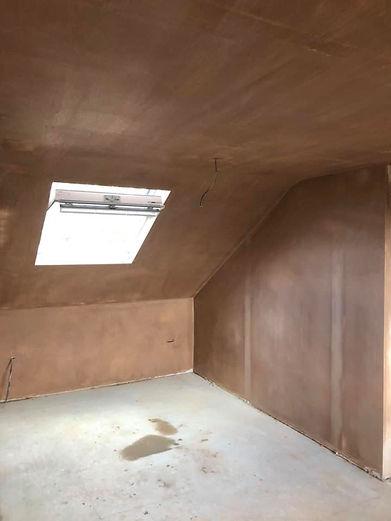 Recently plastered large room Bedfordshi