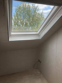 Dry lining around window