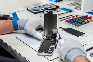 Mobile being repaired
