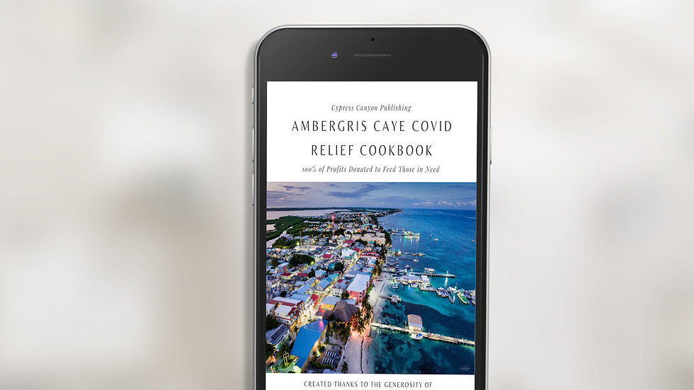 Ambergris Caye COVID Relief Cookbook MOBI eBook