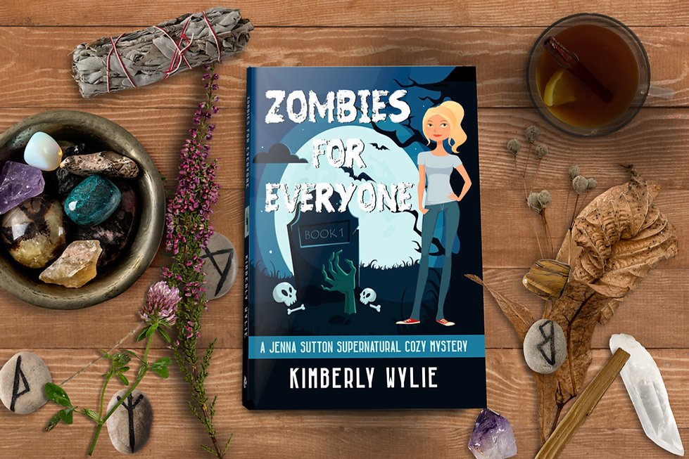 zombies paperbacks on magical background
